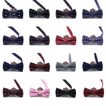 SB14 Adjustable Men's Bow tie Floral Dots Stain Man bows Ties Party Wedding celebration Butterfly Ceremony Birthday Necktie