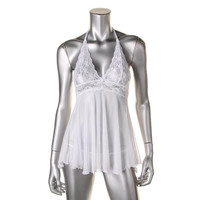 Baci Lingerie Womens Love Angels Mesh Lace Front Babydoll