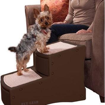 Pet Gear Easy Step II Pet Stairs, 2-step/for Cats and Dogs up to 150-pounds