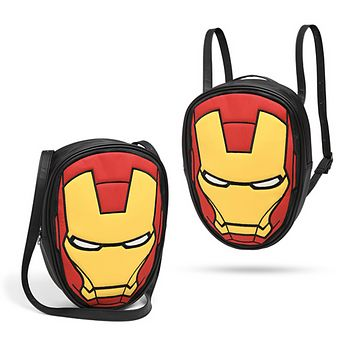 Disney Marvel Avengers Iron Man Convertible Backpack & Shoulder Tote Bag New