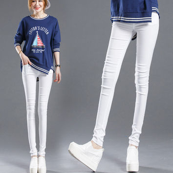 In The Summer The Explosion Jeans Slim Size Leggings Stretch Pencil Pants Female Nine Pants Black Does Not Fade leggings