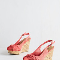 ModCloth All In Good Fundamentals Wedge in Coral