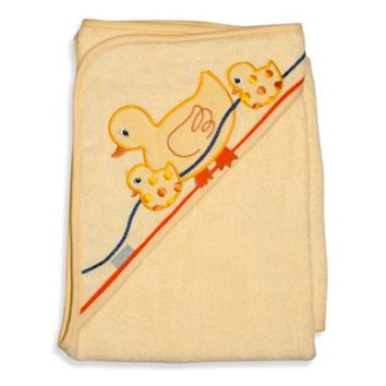 Frenchie Mini Couture Extra-Large Duck Hooded Towel