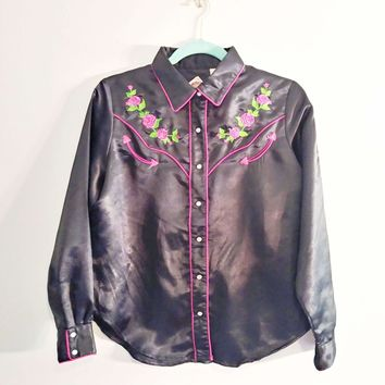 Women's Vintage 1980's Western Blouse by Cumberland Outfitters