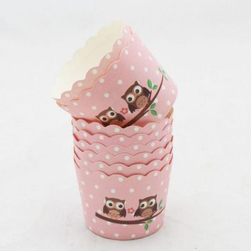 50PCS Cartoon Flower Animal cupcake liner baking cup cupcake paper muffin cases Cake box Cup tray cake mold decorating tools