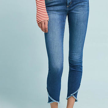 Joe's The Icon Mid-Rise Frayed Tulip Hem Skinny Jeans