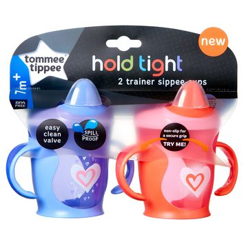 Tommee Tippee Hold Tight 2pk Trainer Sippy Cup 8oz