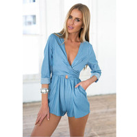 Denim Romper B0016384