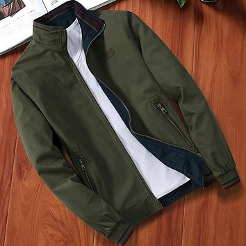 Spring and Autumn New Style Men Reversible Cotton Jacket Male High Quality Casual Long Sleeves Army Green Jackets