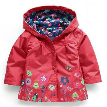Baby girl Outerwear Outerwear Coats blazer cotton Trench Spring Girls Hoodies Jackets Baby raincoat
