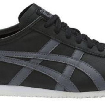 Mens Onitsuka Tiger Mexico 66 Black fashion trainers Sneakers shoes Size 11.5 13