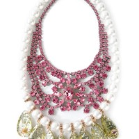 Mawi Embellished Bib Necklace