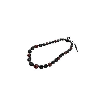 Kukui Nut Lei, Black with Trace Red Honu