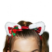 Tis The Season Kitty Headband | Dolls Kill