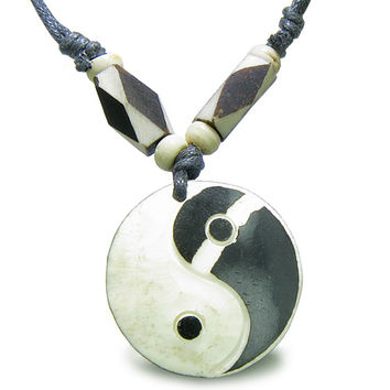 Amulet Original Tibetan Yin Yang Balance Special Powers Natural  Pendant Necklace