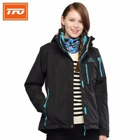 TFO Women Hiking Jackets Waterproof  rain Jacket women Windbreaker two pieces Chaquetas fleece ski Jacket Hiking Jaqueta 6641329