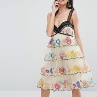 Free People Ramble Rose A-Line Dress at asos.com