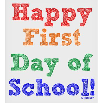 """Happy First Day of School 9 x 10.5"""" Rectangular Static Wall Cling"""