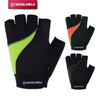 Winmax Short Fitness Reflective Cycling Gloves Half Finger Camping & Hiking Bicycle Gloves With Gel-Foam Pad For Outdoors Sport