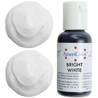 Bright White Gel Paste Food Color