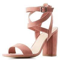Wrapped Two-Piece Sandals