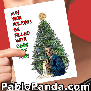 Holiday Cards | Eleven | Netflix Stranger Things Christmas Gift Husband Christmas Wife Card Boyfriend Card Girlfriend Gift Card For Best Mom