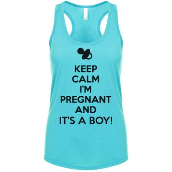 Keep Calm I'm Pregnant And It's A Boy Women's Tank
