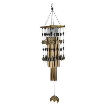 Antique Tubes Bells Copper Wind Chimes Living Room Outdoor Garden Wind Chimes Home Decor Handmade Crafts Ornament Gift 3