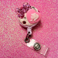 ID Badge Clip Bow x Barbie Theme by JMxSweets on Etsy