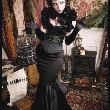 Burlesque Gothic Black Steampunk Bolero Glamour Opera Gaga Prom Shrug TENDER Is THE NIGHT by Lovechild Boudoir