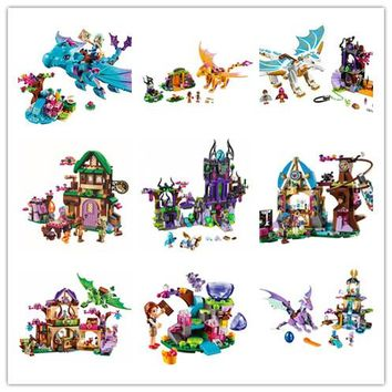NEW Girl friends Fairy Elves dragon Building Kits Brick christmas Toys Compatible with lego kid gift set girl birthday gift