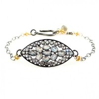 Labradorite Marquis Stained Glass Bracelet