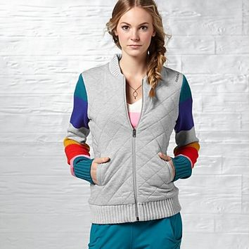 Reebok Women's Off The Mat Quilted Knit Jacket Jackets | Official Reebok Store