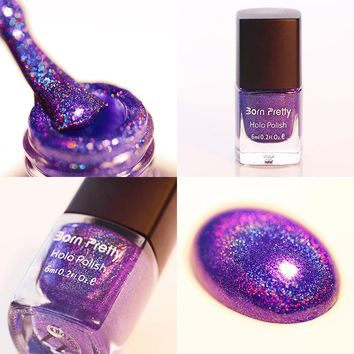 Holographic Holo Glitter Nail Polish Varnish Hologram Effect 6ml Manicure Nail Art Varnish 11#