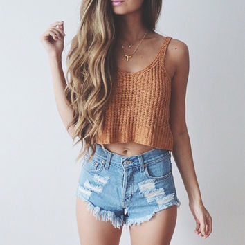 Knitted Solid Color Camisole