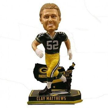 CLAY MATTHEWS #52 GREEN BAY PACKERS NATION PLAYER BOBBLEHEAD #/2016 NEW