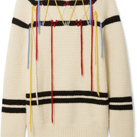CALVIN KLEIN 205W39NYC - Embroidered wool sweater