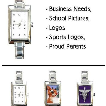 Customize These Great Rectangular Charm Watches.. great for smaller wrists