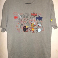 rare jean michel basquiat pop art andy warhol designer roy barbara t-shirt