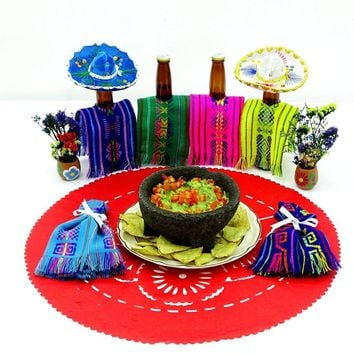 Mexican Red paper place mat, Fiesta decoration, D378