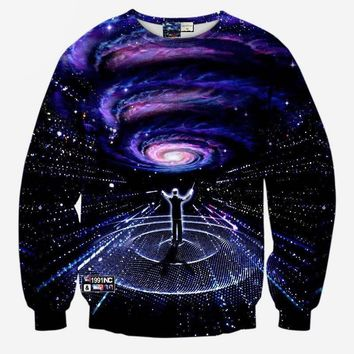 Musicians Symphony Black hole Celestial Space Stars Galaxy Cosmic Hoodie Sweater