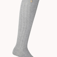 Refined Buttoned Knee High Socks