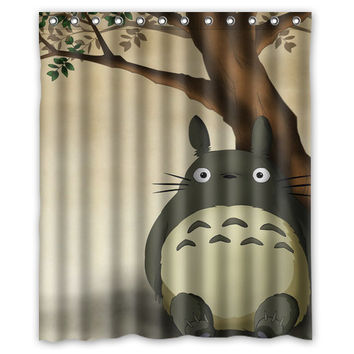 totoro shower curtain