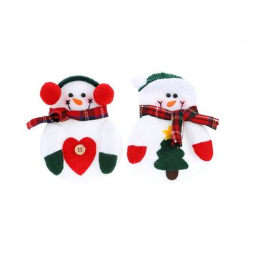 2PCS Christmas Silverware Holder Pockets Santa Tree Hanging Decorations Christmas Supplies Table Ornaments