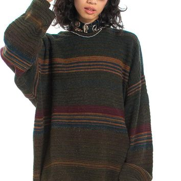 Vintage 90's Gramps Striped Pullover - One Size Fits Many