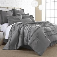 Pacific Coast Textiles 8-Piece Collette Embellished Comforter Set, Queen