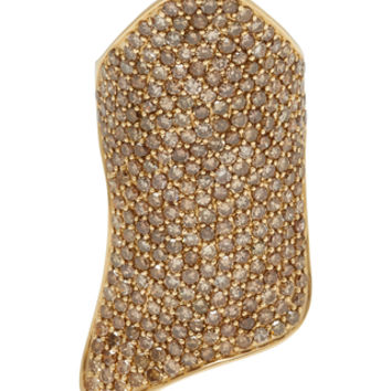Pave Armor 14K Gold Diamond Ring | Moda Operandi