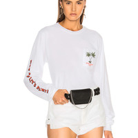LOCAL AUTHORITY for FWRD Let's Party Long Sleeve Tee in White | FWRD