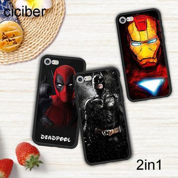 Deadpool Dead pool Taco ciciber DC Marvel Spider-Man Batman  Iron Man Phone Case Cover For iPhone 7 8 6 Plus X Silicone Hard PC Hybrid Fundas AT_70_6