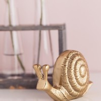 Gold Decorative Snail